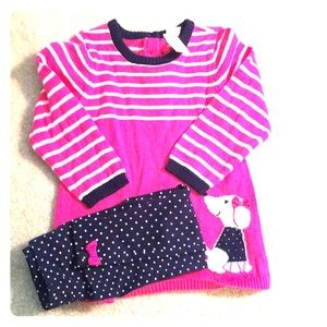 Little Me Tunic Sweater and Leggings Set